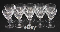 10 Val St. Lambert France Montana TCPL Clear Crystal 5-3/8 Inch Wine Goblets