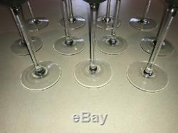 11 Lenox Holiday Gems Emerald Green Balloons Big Wine Glasses Stemware MIB RARE