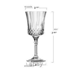 11 oz. Crystal Cut Plastic Wine Goblets Fancy Wedding Party Wine Glasses 48pcs