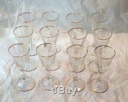 12 Exceptional Moser Lobmeyr Art Cut Glass Rock Crystal Wine Goblets