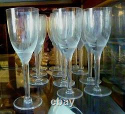 12 Lalique Angel Champagne Flutes Signed Mint (Ange) Retail $6,300
