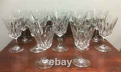12 Piece Baccarat Cut Crystal Goblet Set, 1960's Lutece