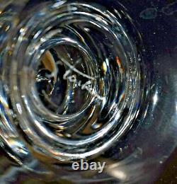 12 Vintage Steuben Crystal Wine Goblets Glasses Teardrop Design Barware BALUSTER