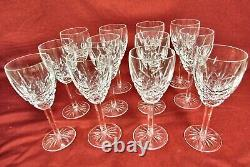 12 Vintage Waterford Crystal Castlemaine Pattern Wine Glass Goblets 7 MINT
