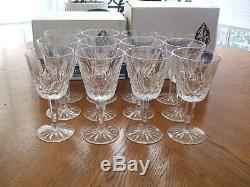 12 WATERFORD CRYSTAL LISMORE RED WINE CLARET GLASS GOBLETS 5 7/8 Never Used