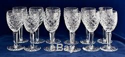 12 Waterford Crystal COMERAGH White Wine Glasses 14.8cm (5 3/4) / 100ml