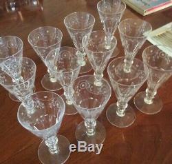 12 William Yeoward Crystal Bunny Goblets