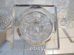 12 verres à vin cristal Baccarat ou Creusot pointes diamant crystal wine glasses