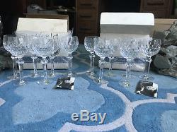 12 vintage Waterford crystal curraghmore wine hocks