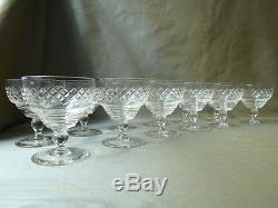 12 vintage crystal champagne/wine glasses, not signed Kosta Boda KOS 4 cut
