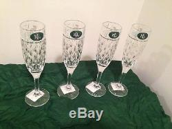 16Pc Ralph Lauren Aston Crystal Rain Drop Glasses DOF Wine Champagne Highball