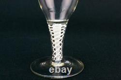 1760 Small Wine Glass Opaque Twist Stem Georgian Antique English Port Sherry
