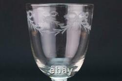 1770 Wine Glass Engraved Air Twist Stem Port Sherry Antique English Georgian