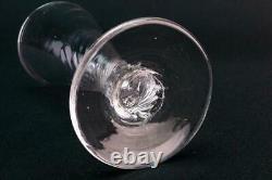 1770 Wine Glass Wrythen Stem Port Sherry Ale Crystal Georgian Antique English