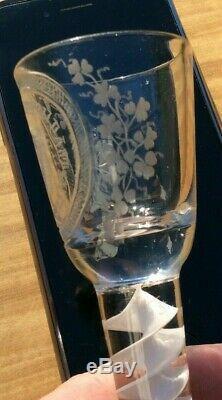 18th Century Irish Volunteer Cordial Wine Glass C1770 VERY RARE PIECE