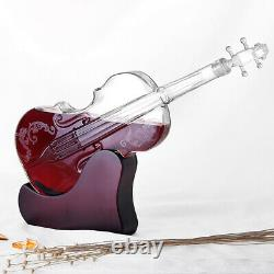 1L Crystal Glass Violin Decanter Creative Wine Whiskey Bottle Music Christmas