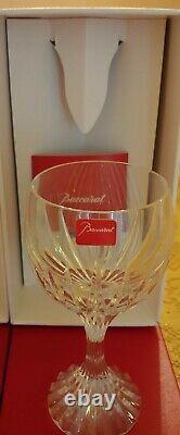 2 Baccarat Crystal Massena Bordeaux Wine Glasses / Goblets 5 7/8