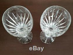 2 Baccarat Cut Crystal Massena Goblets 7 Tall Wine Water Glasses Made in France