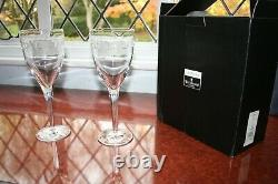 2 Waterford Crystal Geo Wine Goblets by John Rocha Super Condition 25cm + box