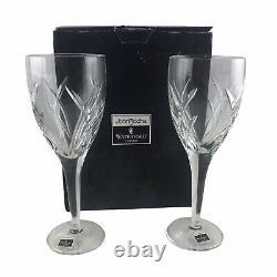 2 Waterford Crystal Ireland John Rocha Signature Red Wine Glasses 9 1/4