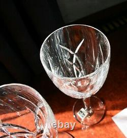 2 Waterford Crystal Signature Wine Glasses by John Rocha, Label on one 23cm