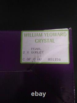 2 William Yeoward Crystal PEARL Goblets in Original Box