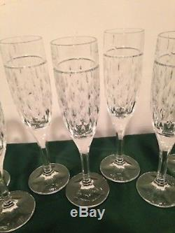 24 Pc Set Ralph Lauren Aston Crystal Rain Drop Glasses DOF Wine Champagne Goblet