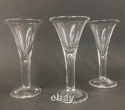 3 Colonial Williamsburg Restoration Teardrop Crystal Wine Goblet Royal Leerdam