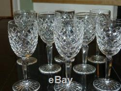 3 Waterford Crystal Comeragh Claret wine glasses