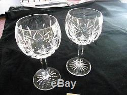 3 Waterford Lismore Balloon Wines, 7 1/4h, Excellent Condition