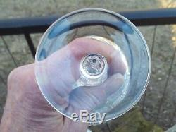 3 lot Pristine Ralph Lauren Herringbone Birdbath Goblets 8 3/4 14 oz