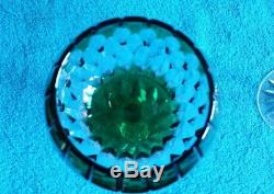 4 AJKA Cut Crystal Balloon Wine Goblets Glasses Castille Multi NOS w Box