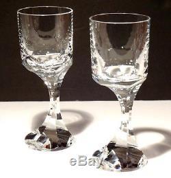 4 Baccarat Crystal Narcisse Claret Wine Goblets Glasses 6 3/4 Made In France