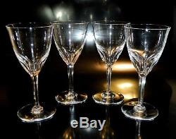 4 Baccarat ZURICH Crystal CLARET WINE Goblets, EXCELLENT Condition, No Reserve