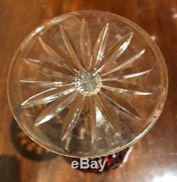 4 Hungarian AJKA Cut to Clear Crystal Wine Hocks FLORDERIS Pattern