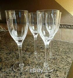 4 Lalique Angel Champagne Flutes Signed Mint sold out in stores Retail $2600
