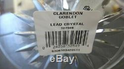 4 New Waterford Crystal Clarendon Water Oversized Wine Glasses Ireland In Box
