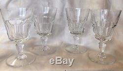 4 RARE Baccarat Bretagne CLARET Crystal Wine Glass Goblets