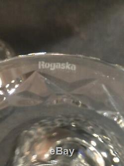 4 Rogaska Gallia Crystal Stem Cut Floral Design Balloon Red Wine Hock 8