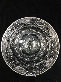 (4) Seneca CRYSTAL 6.875 WINE GOBLETS Berkeley Bowl CUT #779 with STEM #1936