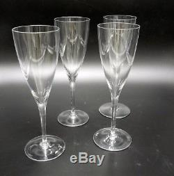 4 Tall Baccarat French Crystal Dom Perignon Champagne Wine Claret Glass 9