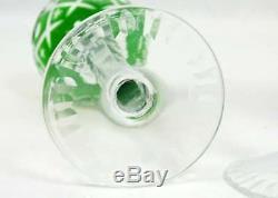 (4) VTG Bohemian Bavarian Nachtman Cut to Clear Crystal Cordials Liqueur Wine