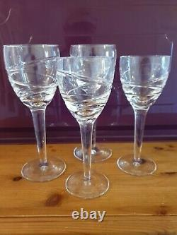4 Waterford Crystal Jasper Conran Aura 2 X Wine 2 X White
