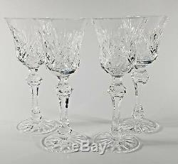 (4) Waterford Kilkeary Claret Wine Glasses, EUC