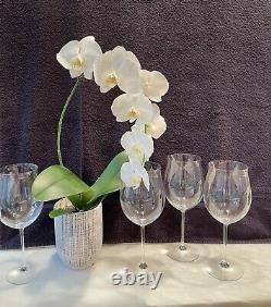 4 William Yeoward Hand-made Crystal Olympia Burgundy Wine Glasses! Signed