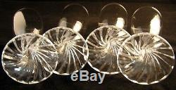 4Sparkling Lalique France RAMBOUILLET Fluted Glass Wine Champagnes SIGNED