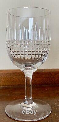 5 Baccarat Crystal Nancy (Cut) CLARET Wine Glasses 5.5