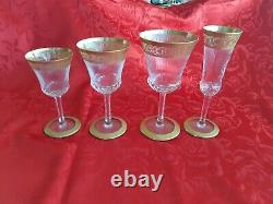 5 DAYS LEFT4 St-Louis THISTLE Crystal Glasses! 12 x 4 available! FREE SHIPPING