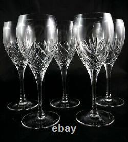 5 Stunning Royal Doulton Crystal Juliette wine port sherry glasses