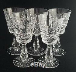 (5) Waterford KYLEMORE Cut Crystal Port Wine Glasses, 5